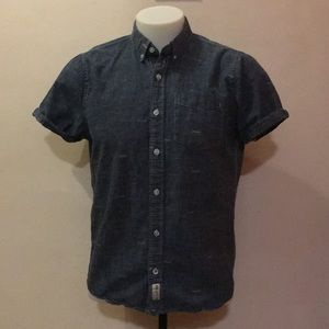 Hollister Chambray short sleeve button down shirt